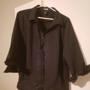 Liz Claiborne Stretch black blouse 3x